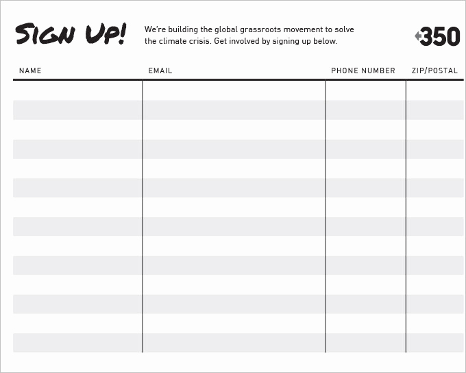 Sign Up form Template Awesome Free Signup Sheets