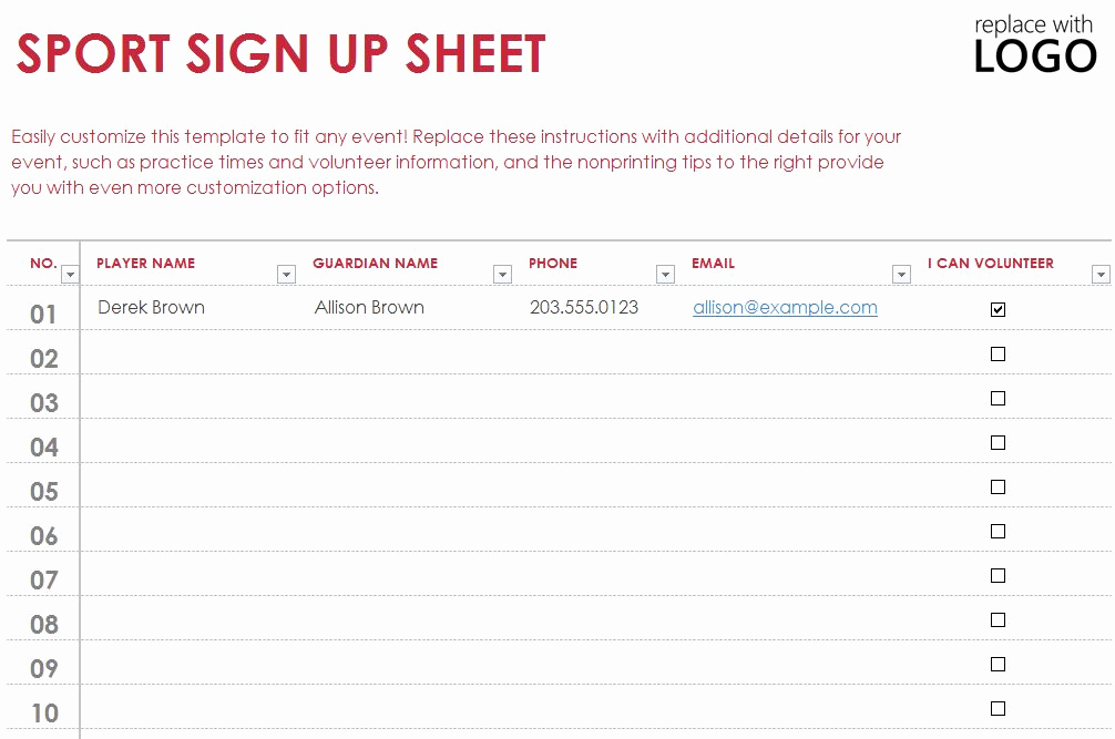 Sign Up form Template Inspirational Exploring Exceltemplates