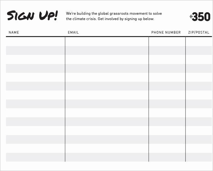 Sign Up Sheet Pdf Beautiful Free Signup Sheet Template