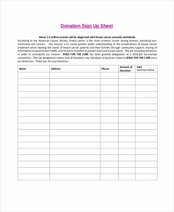 Sign Up Sheet Pdf Fresh Sign Up Sheet 16 Free Pdf Word Documents Download