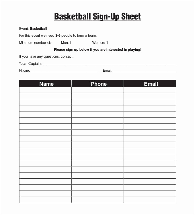 Sign Up Sheet Pdf Fresh Sign Up Sheets 58 Free Word Excel Pdf Documents