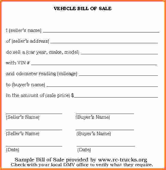 Simple Auto Bill Of Sale Best Of 15 Simple Bill Of Sale for Vehicle
