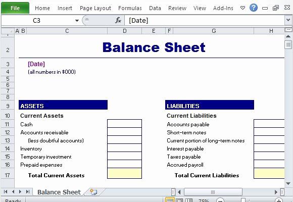 Simple Balance Sheet Template Beautiful Free Office Templates
