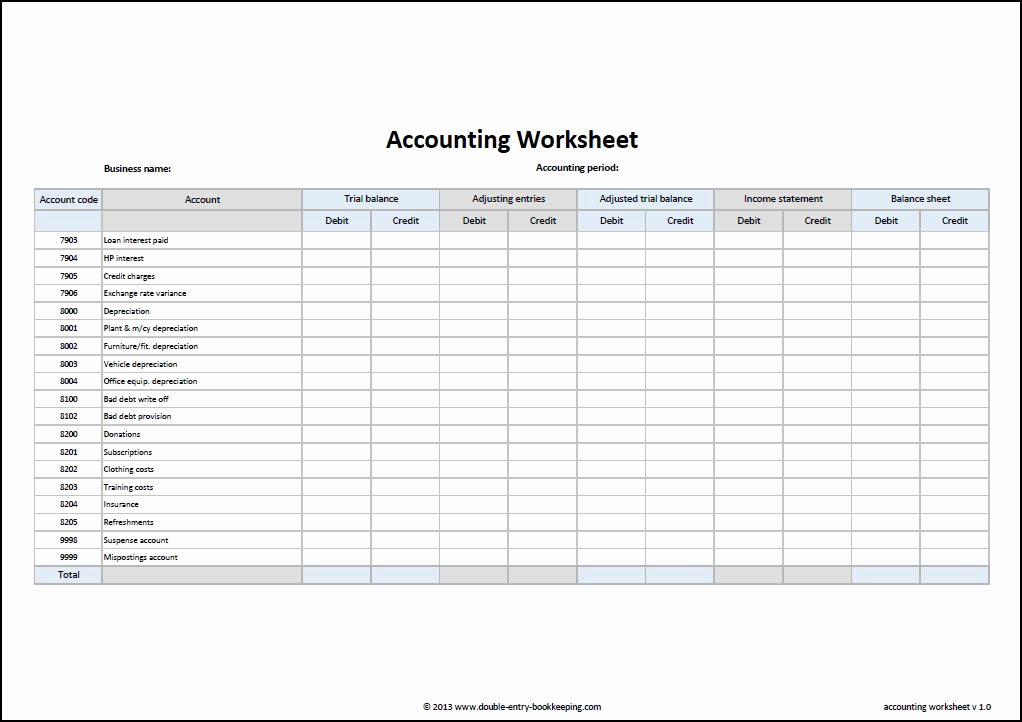 Simple Balance Sheet Template Unique Accounting Worksheet Template