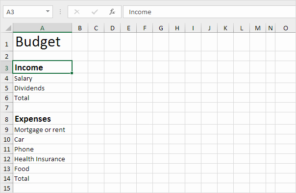 Simple Budget Template Excel Awesome Bud Template In Excel Easy Excel Tutorial