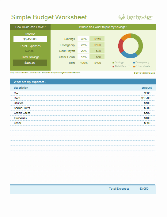 Simple Budget Template Excel Lovely Free Excel Bud Template Collection for Business and