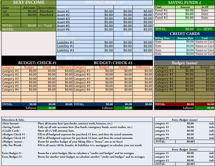 Simple Budget Template Excel New 12 Household Bud Worksheet Templates Excel Easy
