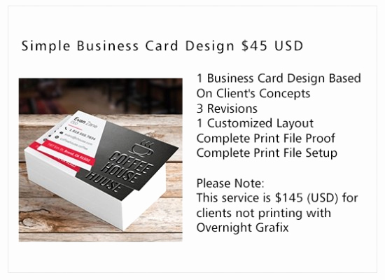 Simple Business Card Design Beautiful Business Card Design Services Overnight Grafix