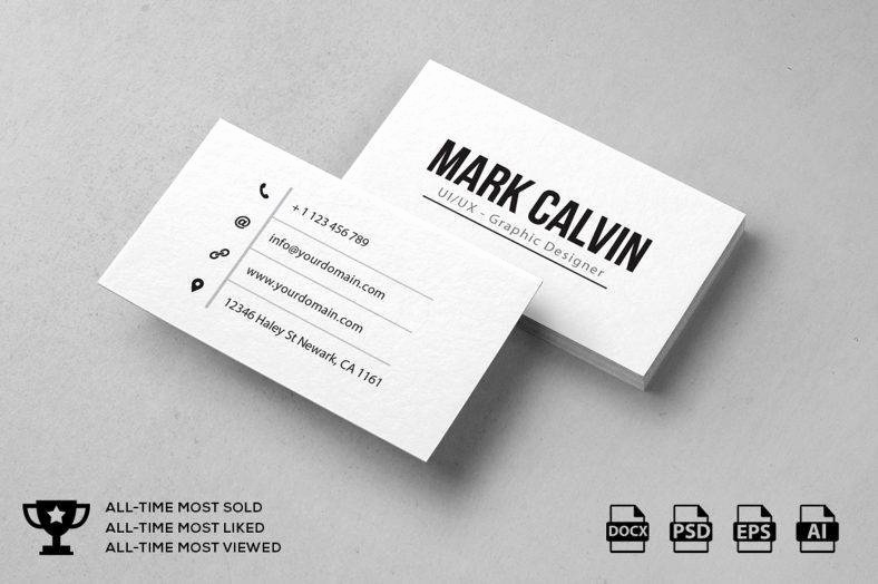 Simple Business Card Design Best Of 9 Minimal Personal Trainer Business Card Designs