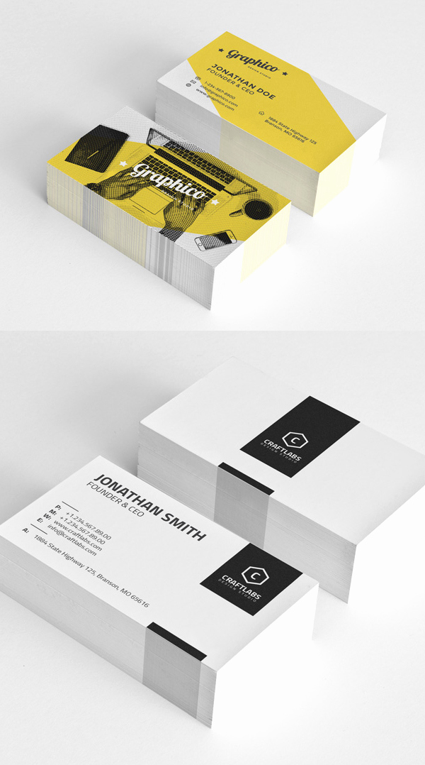 Simple Business Card Design Elegant 25 Professional Business Cards Template Designs