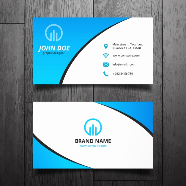 Simple Business Card Design Elegant Blue Simple Business Card Design Vector