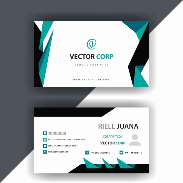 Simple Business Card Design Elegant Simple Business Card Design Vector