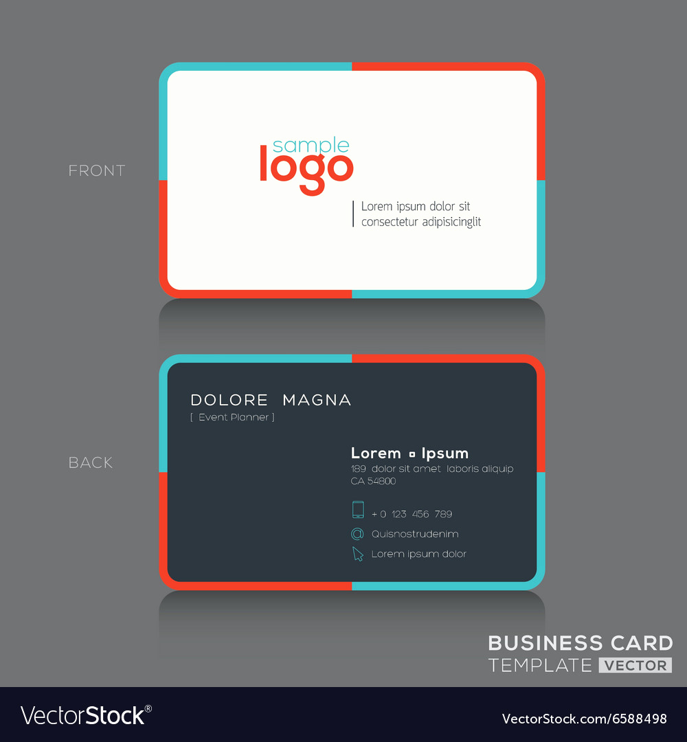 Simple Business Card Design Inspirational Modern Simple Business Card Design Template Vector Image