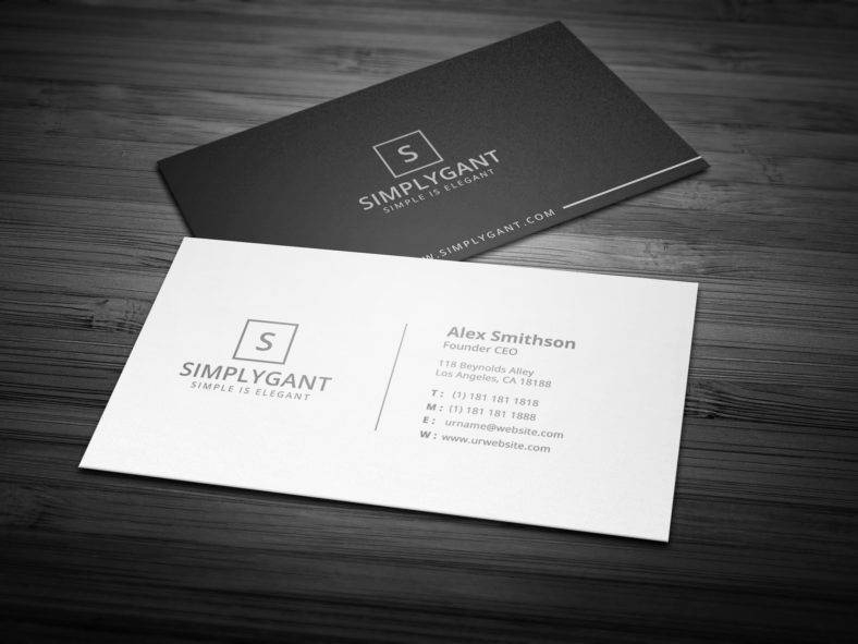 Simple Business Card Design Luxury 9 Simple Minimal Business Card Designs & Templates Psd