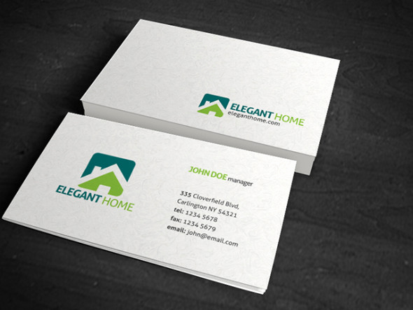 Simple Business Card Design Luxury Simple & Clean Texture Business Card Template Free