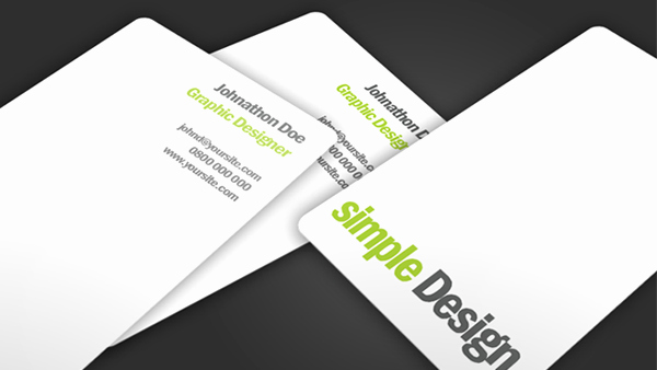 Simple Business Card Design New Simple Design Business Card Creative Vip