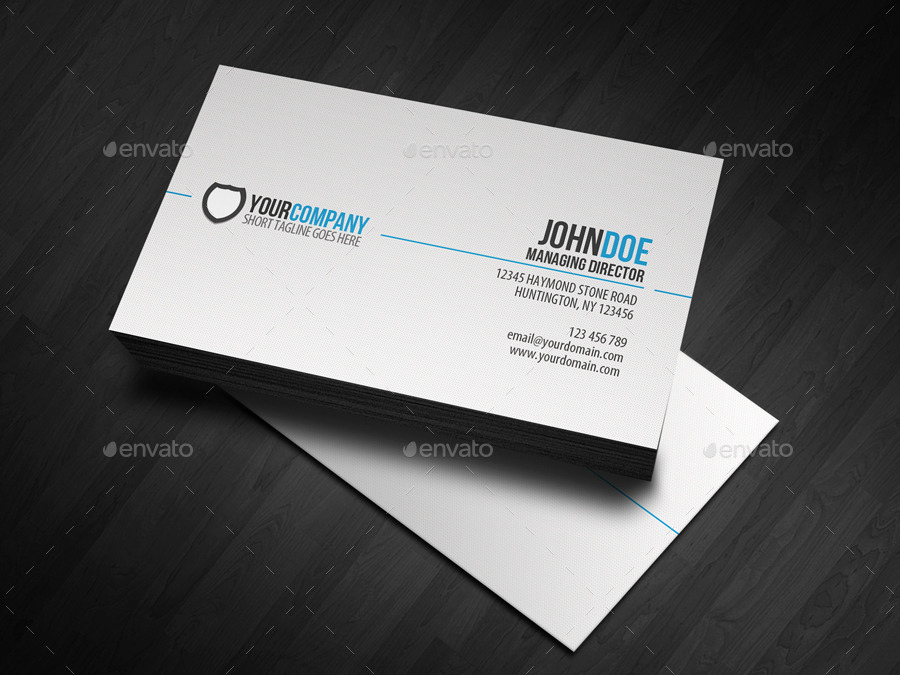 Simple Business Card Design Unique 20 Professional Business Card Templates Psd Pages