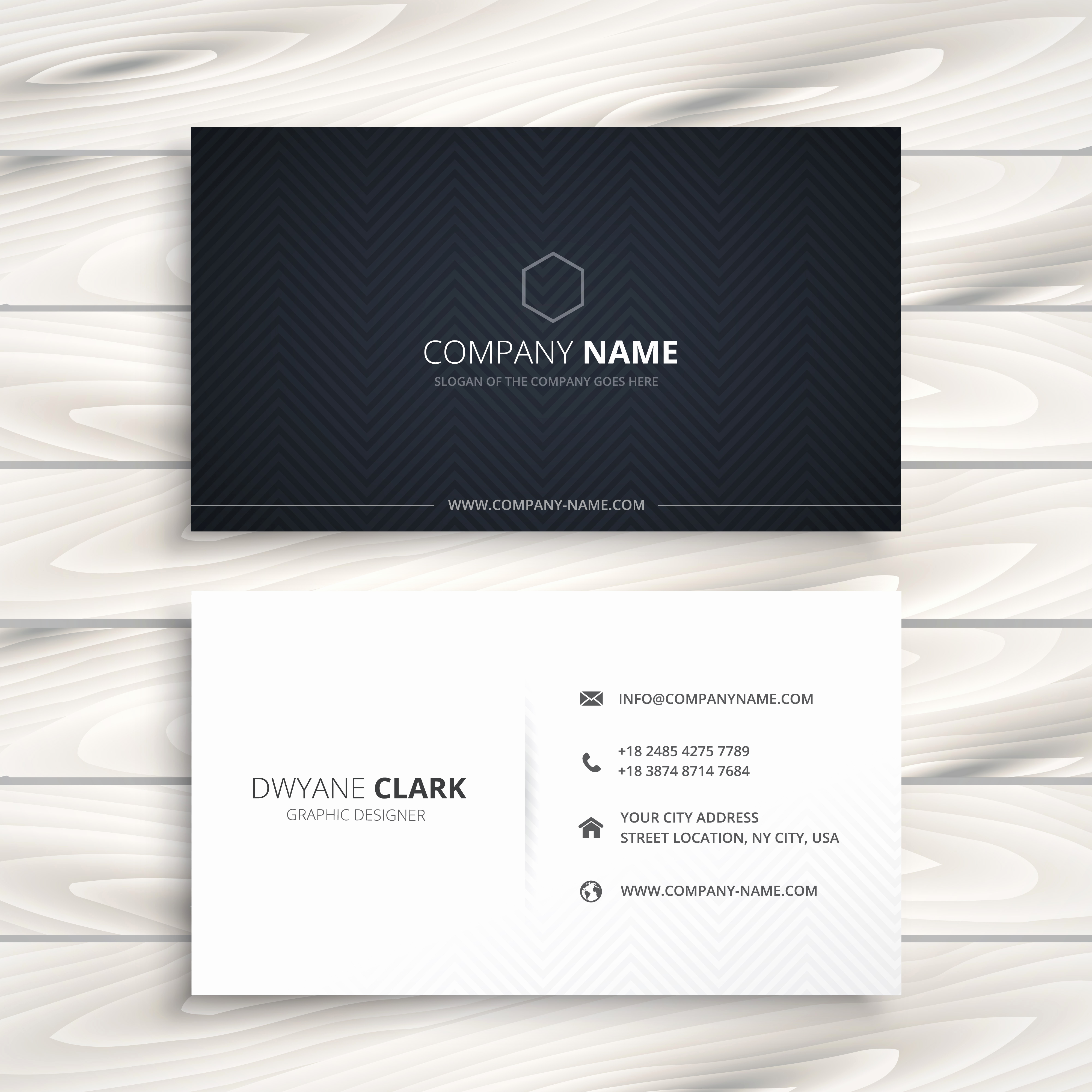 Simple Business Card Design Unique Simple Business Card In Black and White Style Vector