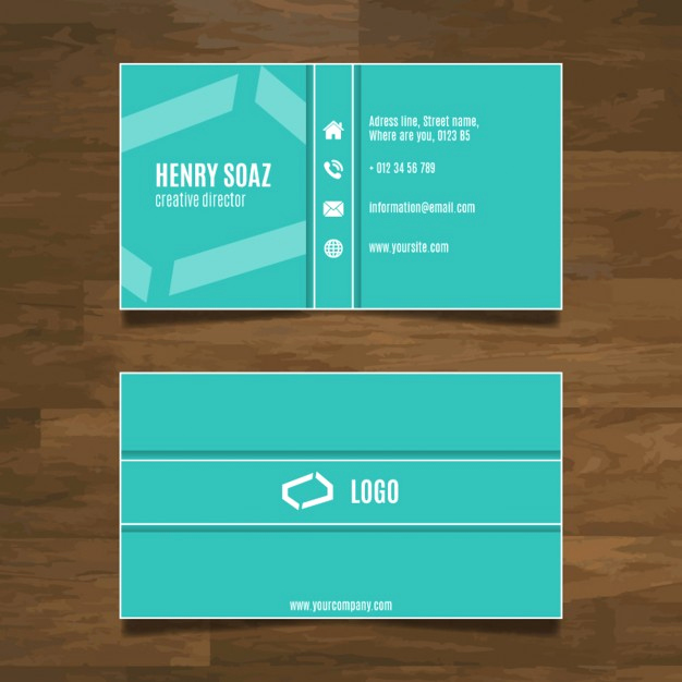 Simple Business Card Design Unique Simple Modern Business Card Design Vector
