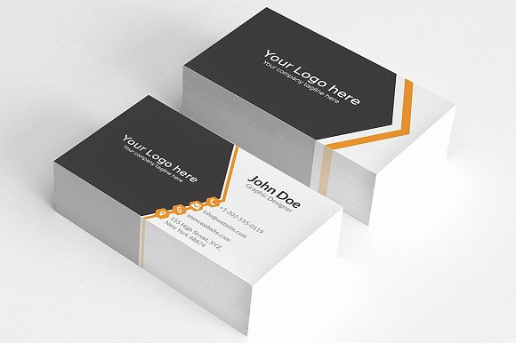 Simple Business Card Design Unique Simple orange Aero Business Card Business Card Templates