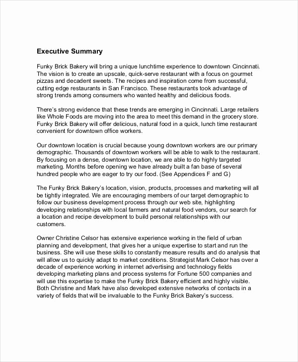 Simple Business Plan Example Best Of 25 Simple Business Plan Examples Pdf Word Pages