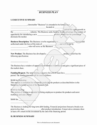 Simple Business Plan Example Best Of Business Plan Template – Free & Simple for Small Business