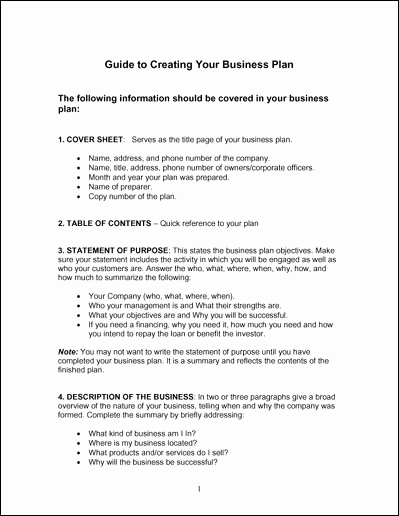 Simple Business Plan Example Best Of Simple Business Plan Template