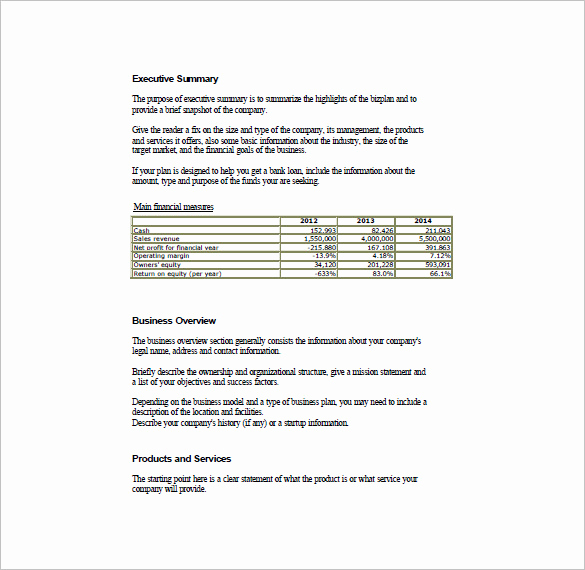 Simple Business Plan Example Lovely Simple Business Plan Template – 14 Free Word Excel Pdf