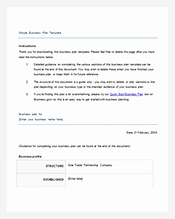 Simple Business Plan Example New Simple Business Plan Template – 14 Free Word Excel Pdf