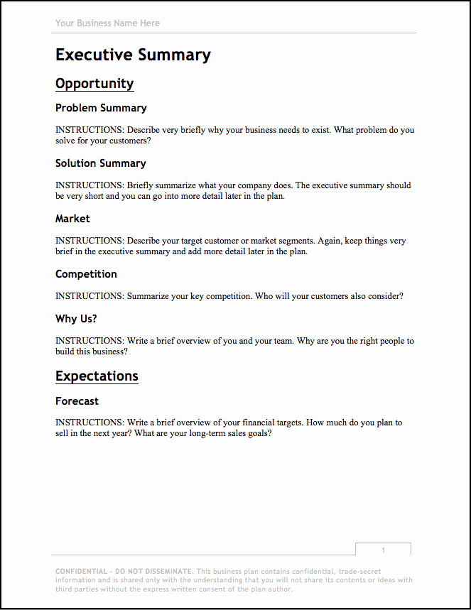 Simple Business Plan Example Unique Business Plan Template [updated for 2018] – Free Download