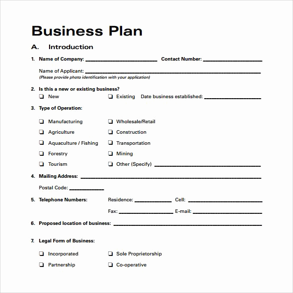 Simple Business Plan Outline Awesome Business Plan Template Free Download