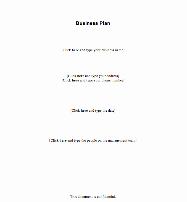 Simple Business Plan Outline Awesome Free Simple Business Plan Template