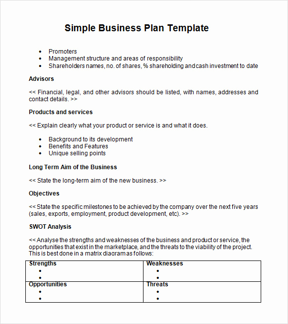 Simple Business Plan Outline Elegant Simple Business Plan Template 21 Documents In Pdf Word