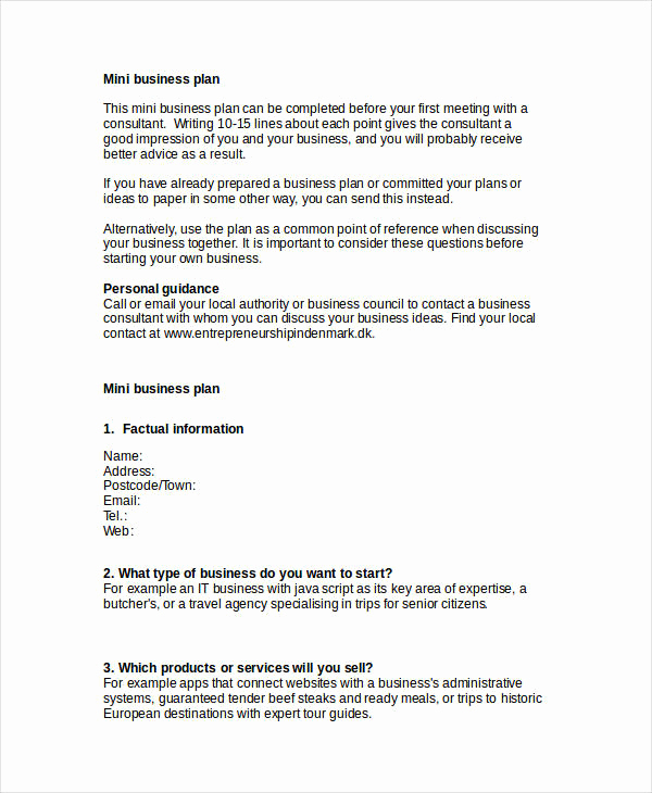 Simple Business Plan Outline Fresh 25 Simple Business Plan Examples Pdf Word Pages