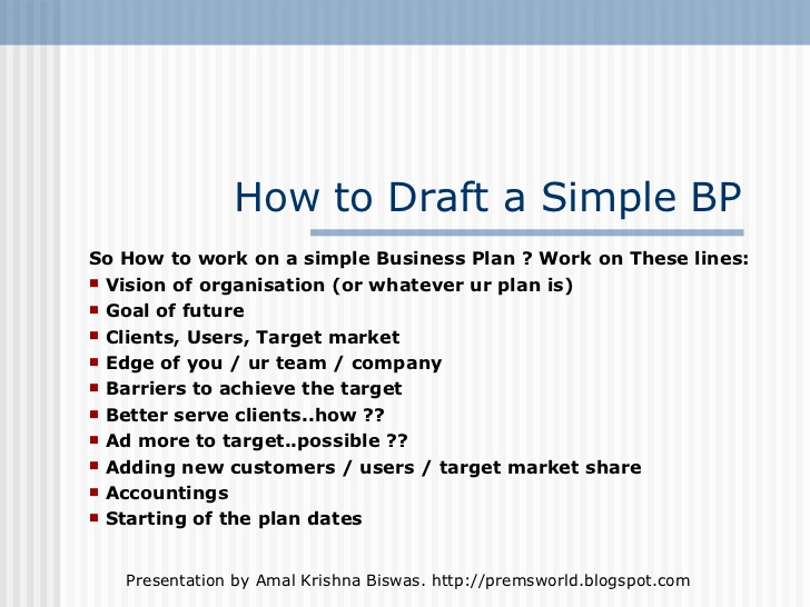 Simple Business Plan Outline Fresh A Simple but Effective Business Plan