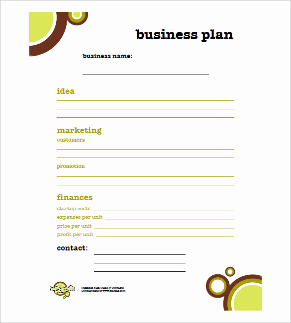 Simple Business Plan Outline Luxury Simple Business Plan Template – 14 Free Word Excel Pdf