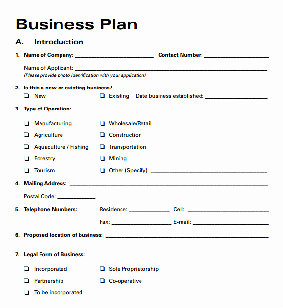 Simple Business Plan Template Word Inspirational Business Plan Templates 6 Download Free Documents In