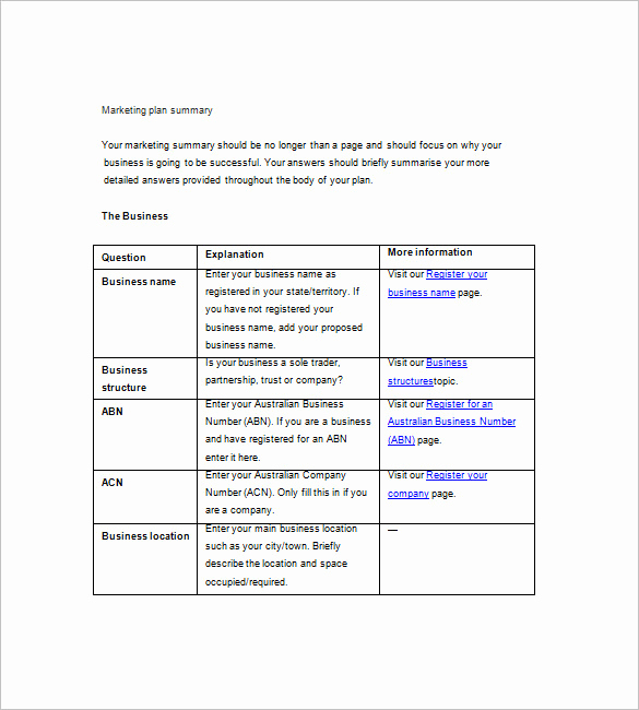 Simple Business Plan Template Word Lovely 19 Simple Marketing Plan Templates Doc Pdf
