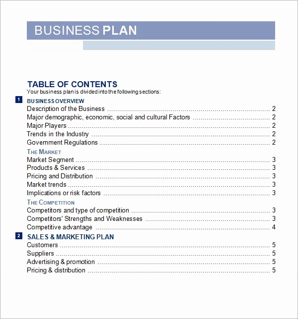 Simple Business Plan Template Word Unique 5 Free Business Plan Templates Excel Pdf formats