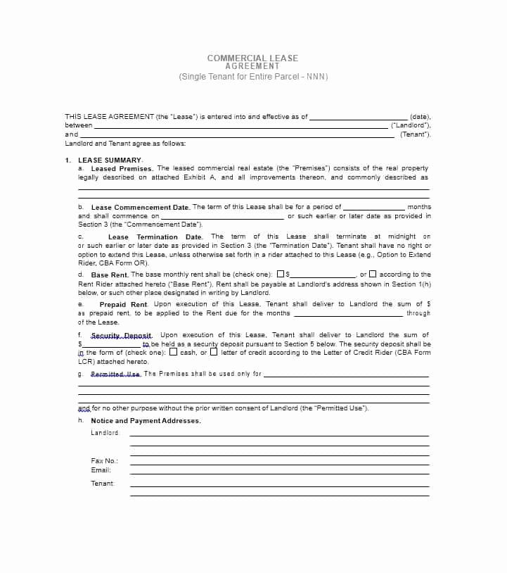 Simple Commercial Lease Agreement Best Of 26 Free Mercial Lease Agreement Templates Template Lab