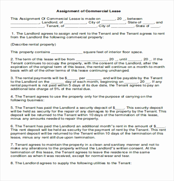 simple mercial lease agreement