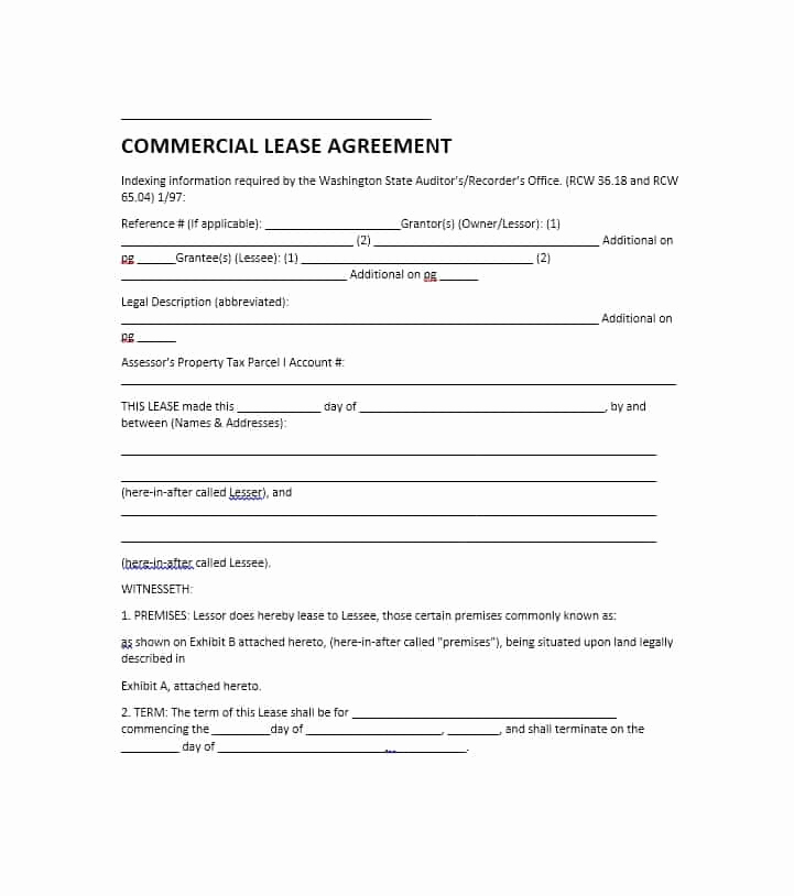 Simple Commercial Lease Agreement Luxury 26 Free Mercial Lease Agreement Templates Template Lab