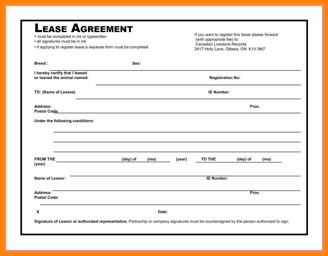 Simple Commercial Lease Agreement New 5 Simple Mercial Lease Agreement