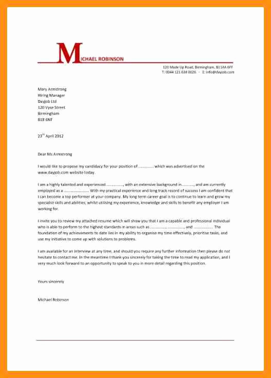 Simple Cover Letter format Awesome Basic Cover Letter for Any Job