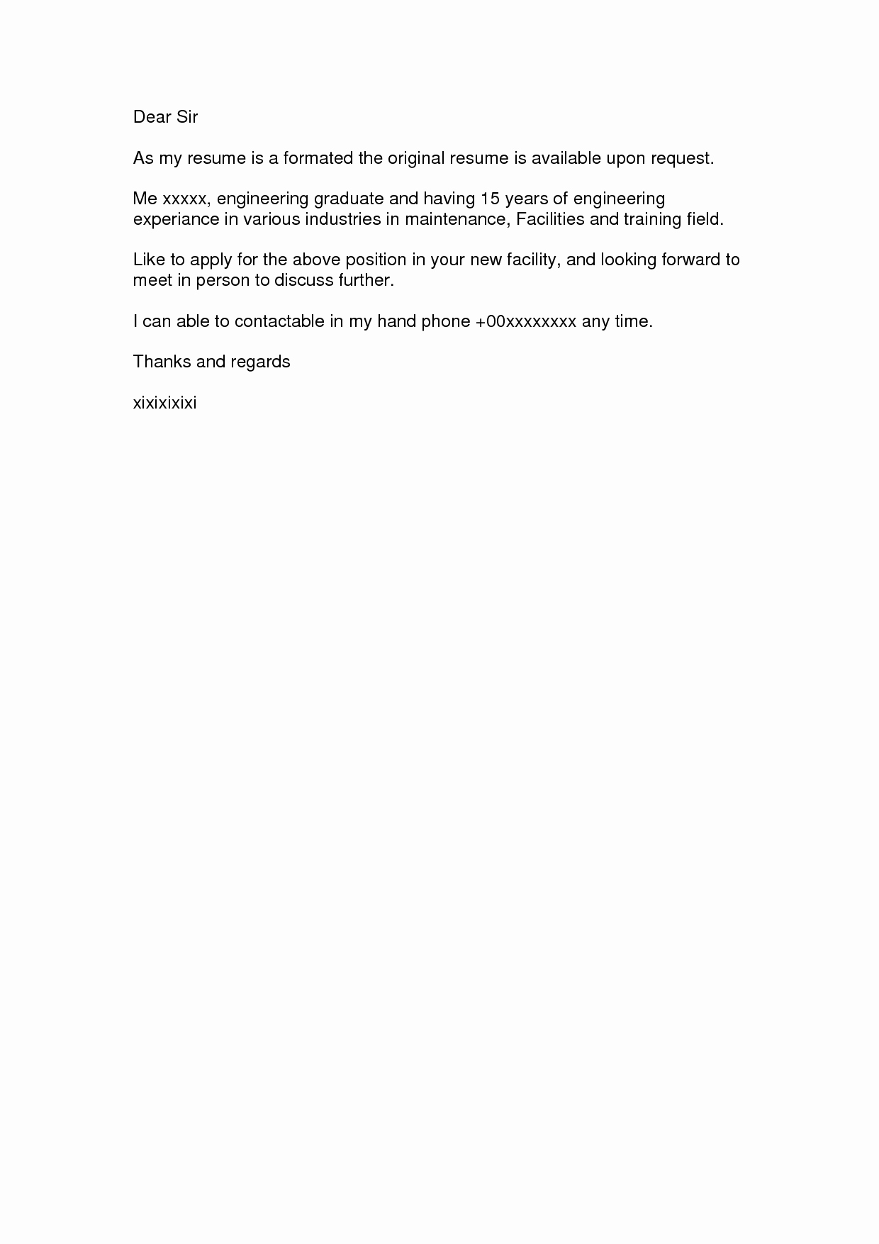 Simple Cover Letter format Unique Simple Cover Letter Easy Template Pix Widescreensimple