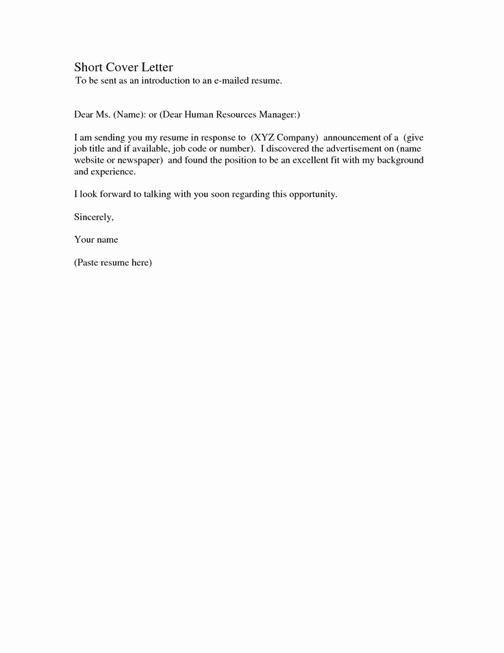 Simple Cover Letter Sample Best Of Simple Cover Letter Samples