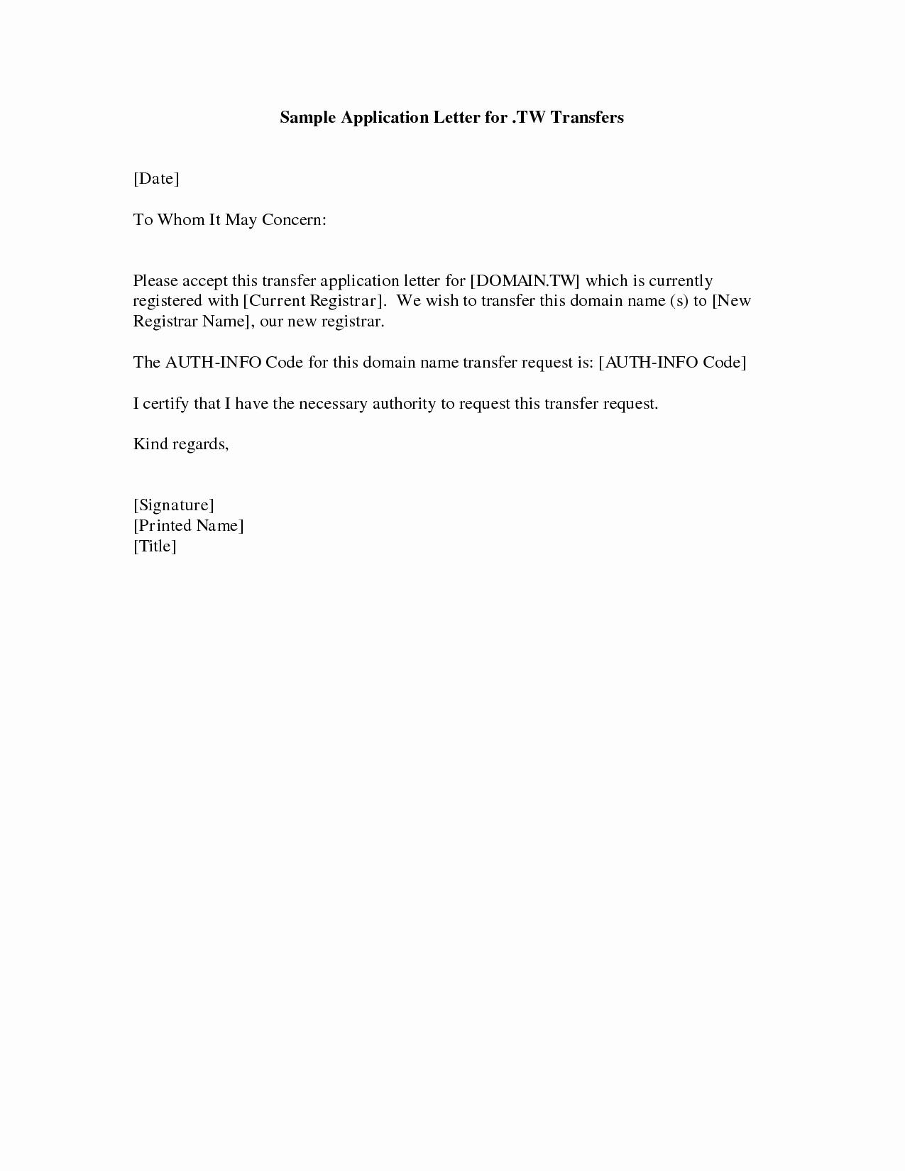Simple Cover Letter Sample Elegant Simple Application format