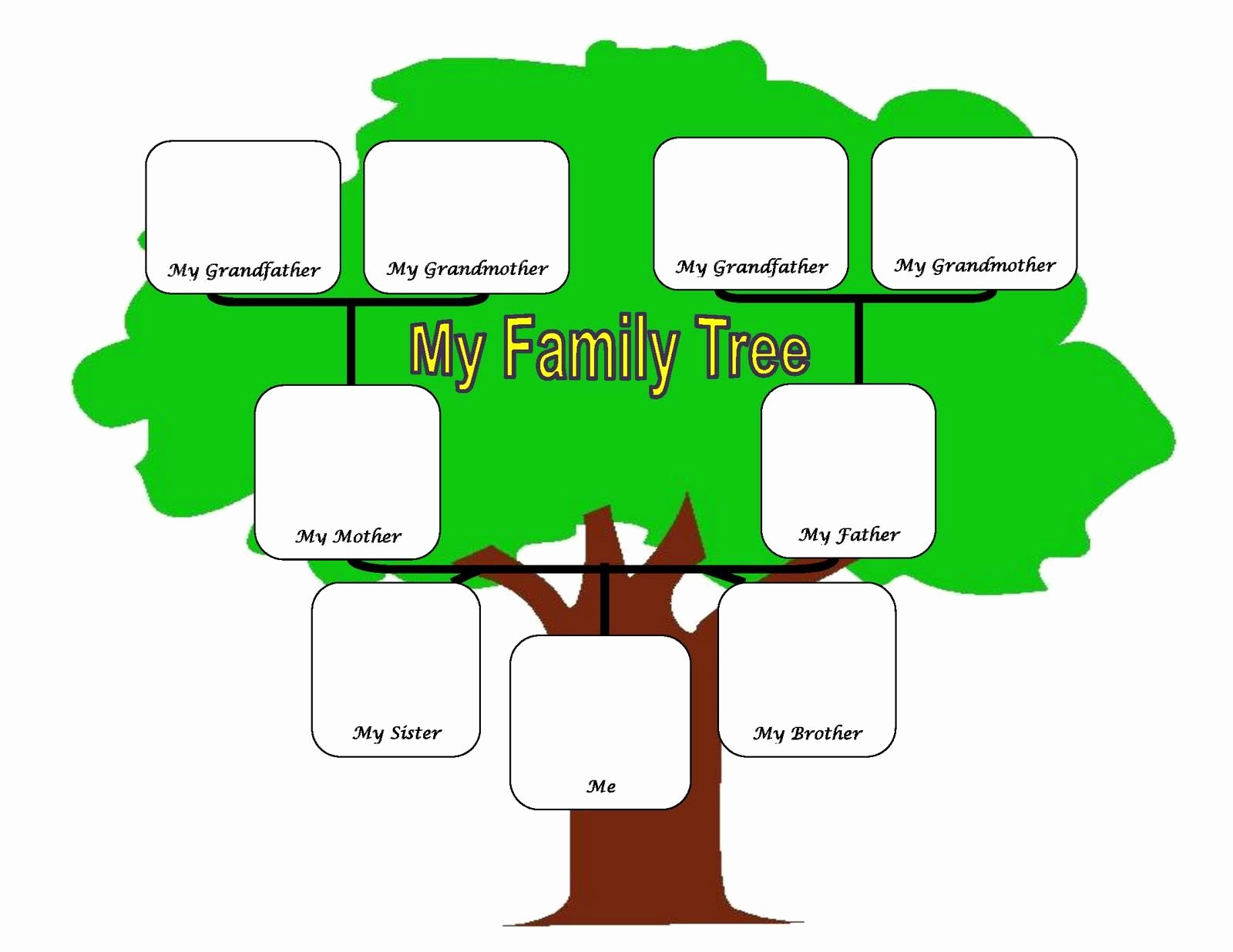Simple Family Tree Template Best Of Family Tree Fotolip Rich Image and Wallpaper