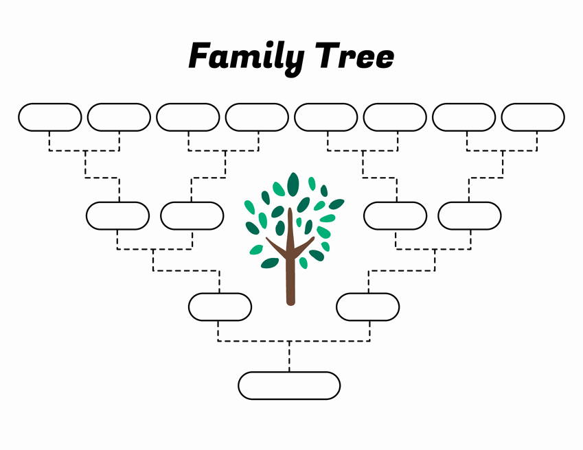 Simple Family Tree Template Best Of Simple Family Tree Template – Free Family Tree Templates