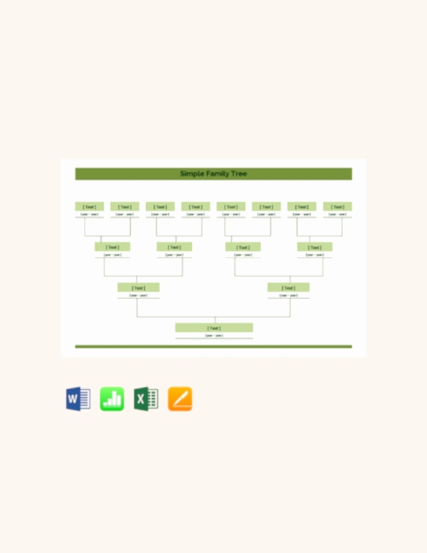 Simple Family Tree Template Elegant 35 Family Tree Templates Word Pdf Psd Apple Pages